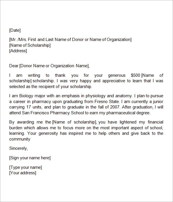 How to write thank you letter for scholarship example good resume how to write thank you letter for scholarship how to write a thank you letter scholarships expocarfo Image collections