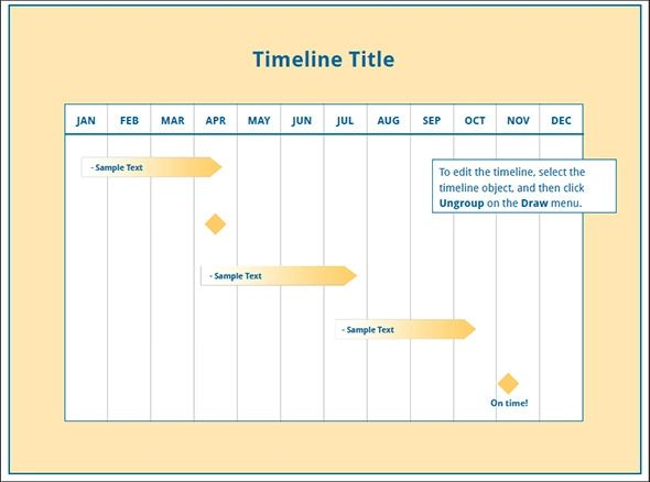 timeline in excel template