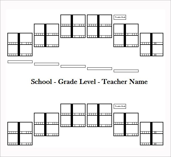 7+ Printable Free Seating Chart Templates Sample Templates - printable classroom seating chart
