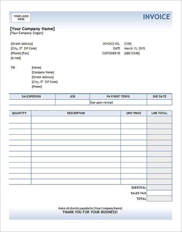 Service Invoice - 28+ Download Documents in PDF, Word, Excel, PSD - free invoice template for excel