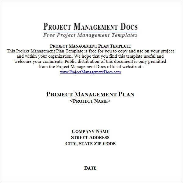 19 Useful Sample Project Plan Templates to Downlaod Sample Templates - project plan template word doc