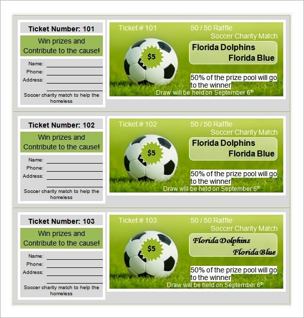 14+ Raffle Ticket Templates Download Free Formats in Word  PDF