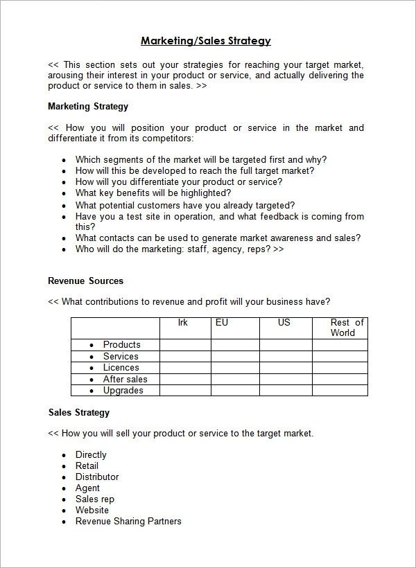 Sample Sales Plan Template - 24+ Free Documents in PDF, RTF, PPT - sales plan format