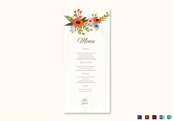 Wedding Menu Template - 31+ Download in PDF, PSD, Word, Vector