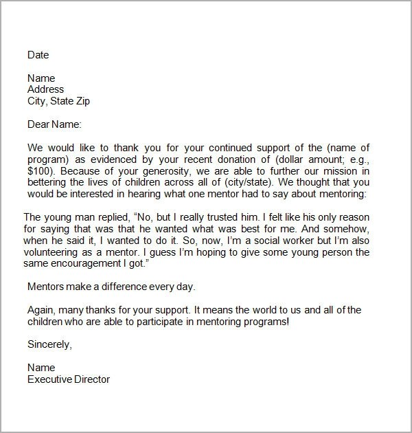 charity donation thank you letter template thank you letter template for charitable donations step sample thank