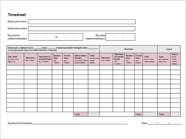 Timesheet Calculator Template Biweekly Timesheet Calculator With - bi weekly timecard with lunch