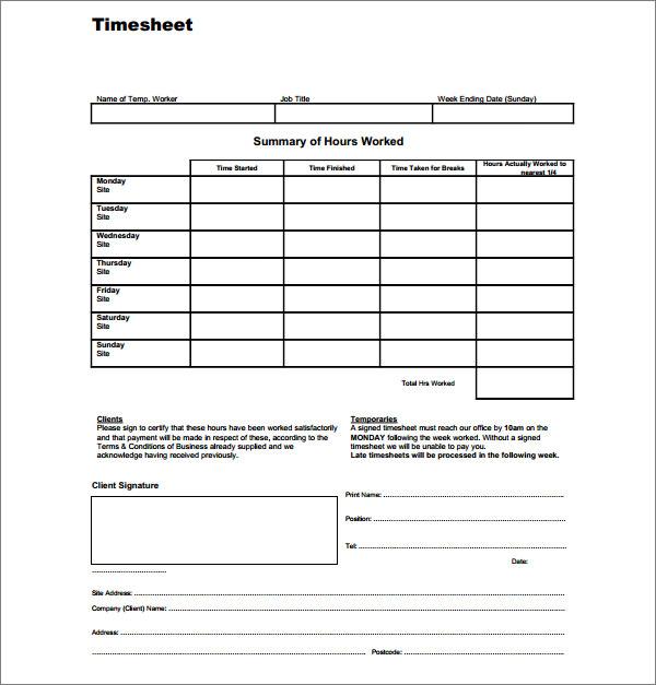 timesheet or time sheet