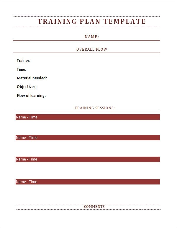 Training Plan Template - 19+ Download Free Documents in PDF, Word - 9 training plan examples in word pdf