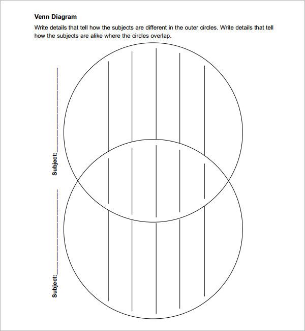 venn diagram with lines template pdf
