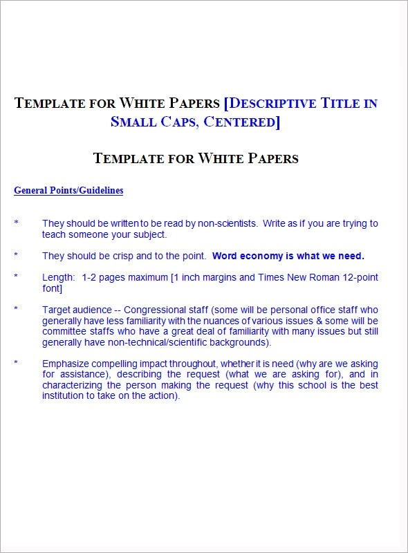 13+ White Paper Templates \u2013 PDF, Word Sample Templates - White Paper Pdf