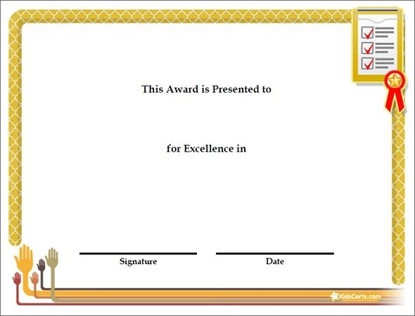 42 Printable Award Certificate Templates to Download Sample Templates