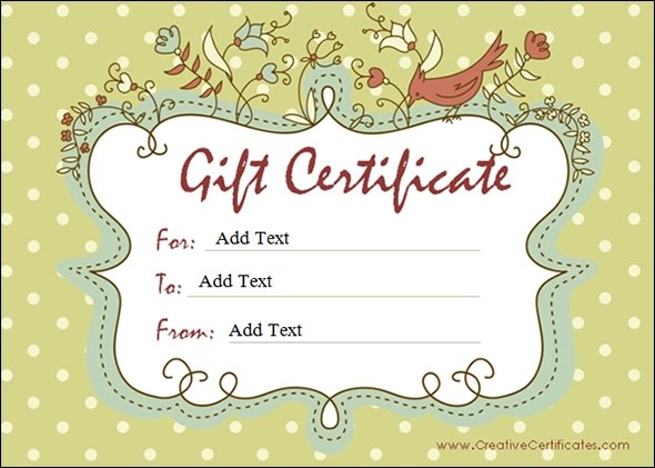 blank gift voucher template - gift certificate word template free