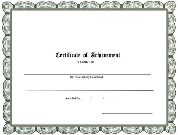 38 Best Certificate of Achievement Templates Sample Templates - certificate of achievement for students