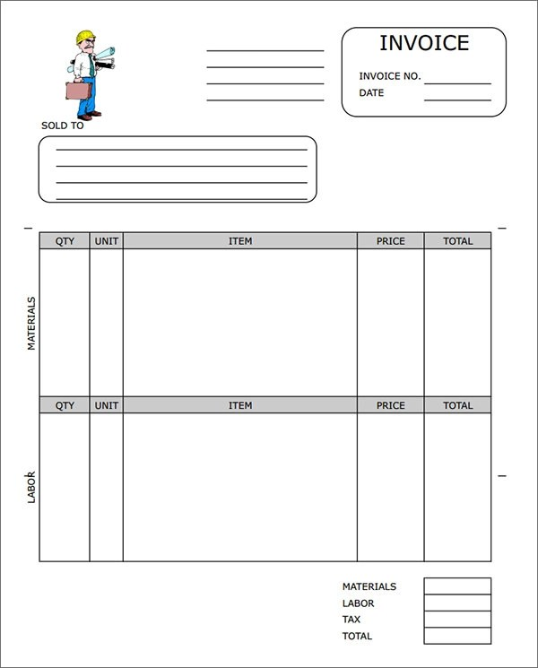 sample contractor invoice template - Free Pdf Invoice