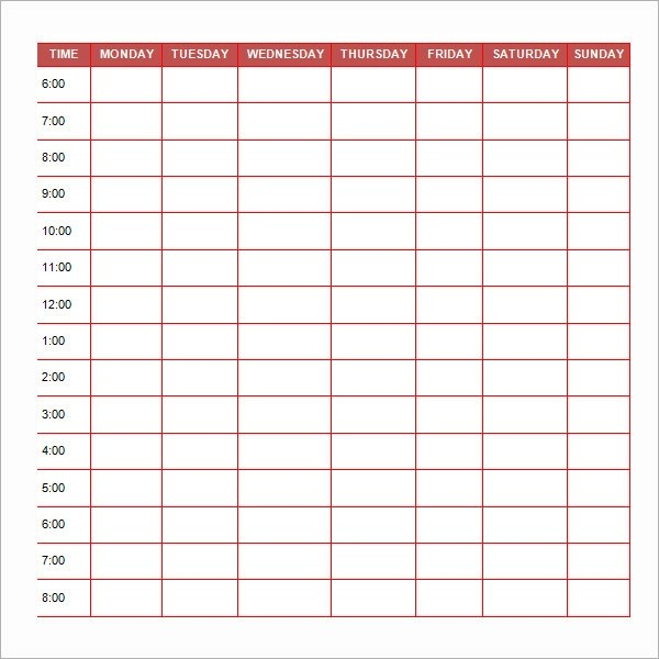 23+ Printable Daily Schedule Templates Sample Templates - daily scheduler template