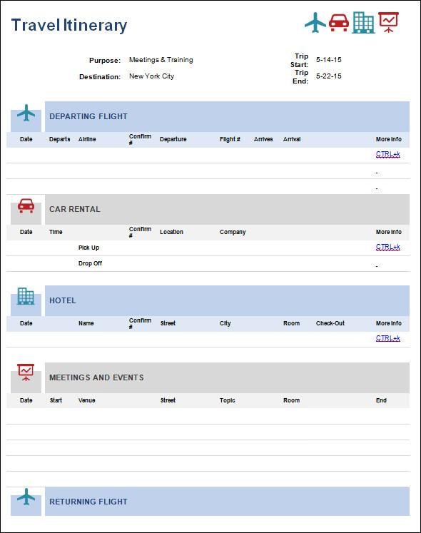 Flight Schedule Template Gallery - Template Design Ideas
