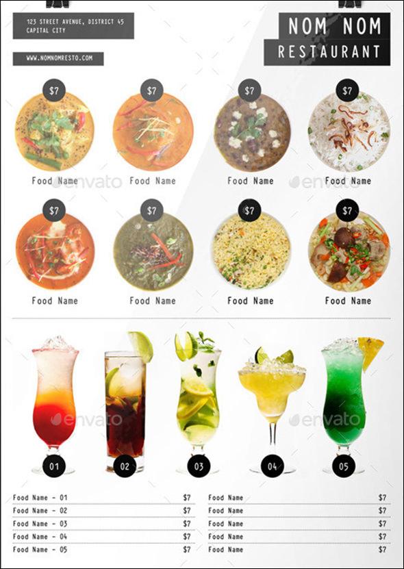 19 Great Printable Food Menu Templates Sample Templates