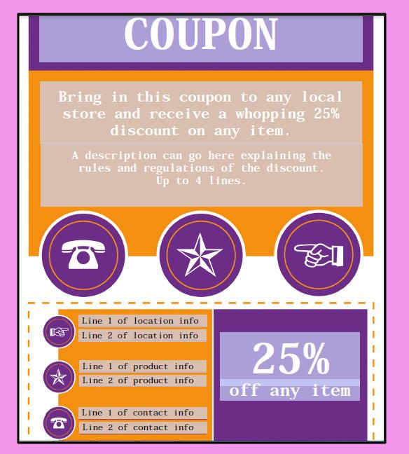 sample coupon templates