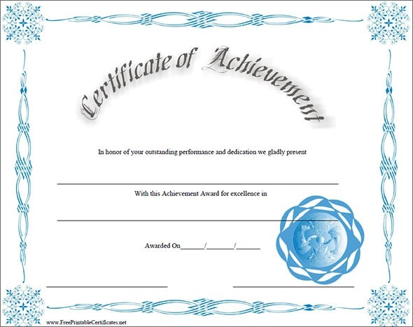Certificate of Achievement Template - 38+ Download in PSD, PDF