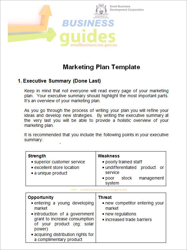 14+ Sample Marketing Plan Templates Sample Templates