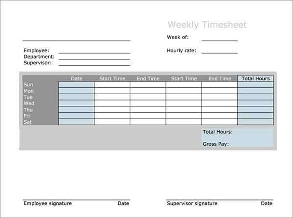 17 Timesheet Calculator Templates to Download for Free Sample