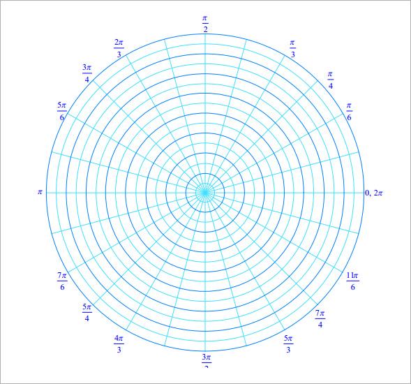 printable polar coordinate graph paper