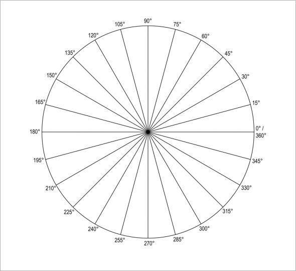 polar coordinate graph paper 6 per page