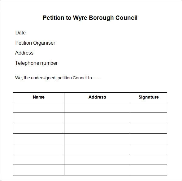 petition format template - Solidgraphikworks