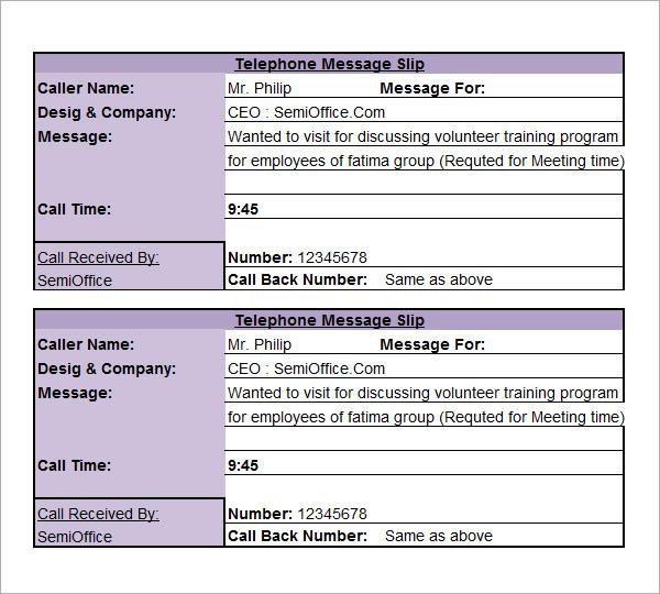 10+ Sample Phone Message Templates \u2013 PDF, Word, Excel Sample Templates