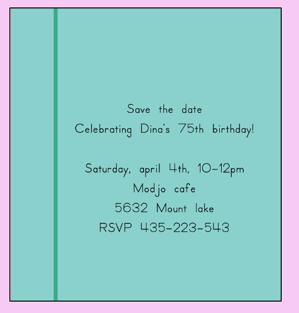 free birthday card invitation templates
