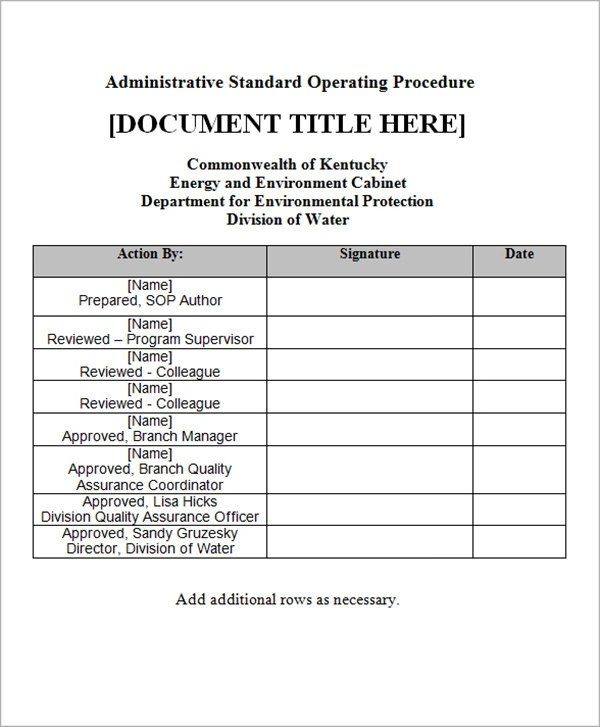 22+ Sample SOP Templates - PDF, DOC