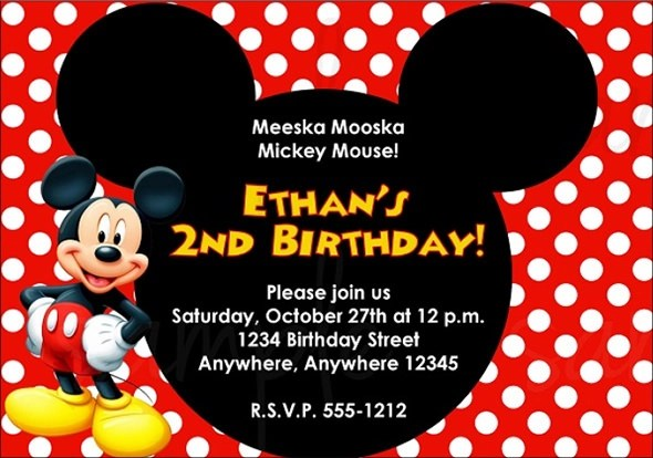 Birthday Invitation Template Free \u2013 gangcraftnet