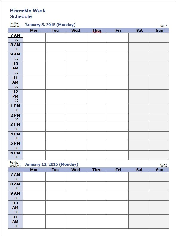 Sample Weekly Schedule Template - 35+ Documents in PSD, Word, PDF
