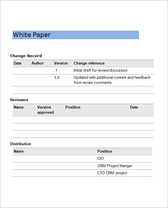 White Paper Examples - white paper templates