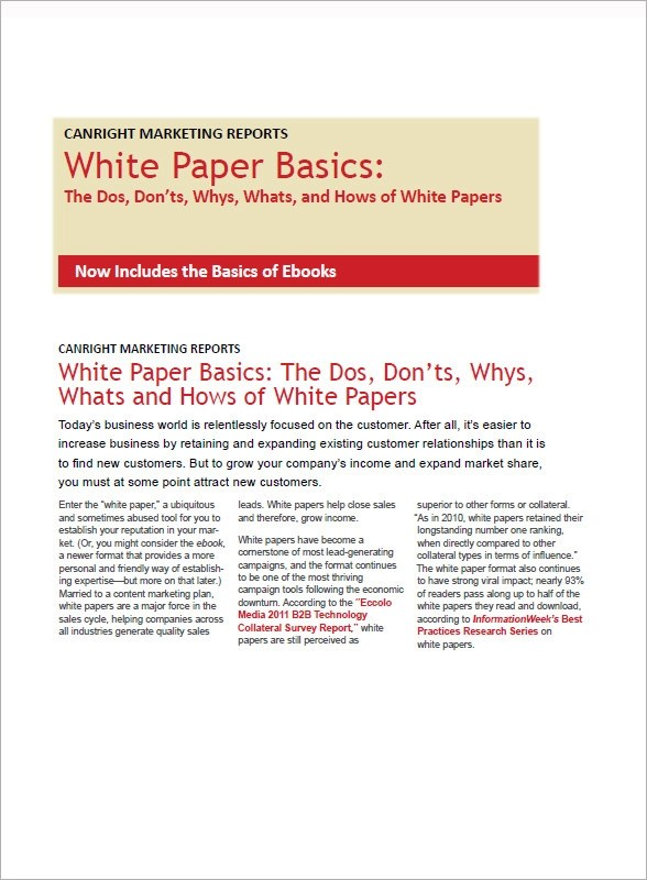 13+ White Paper Templates Sample Templates