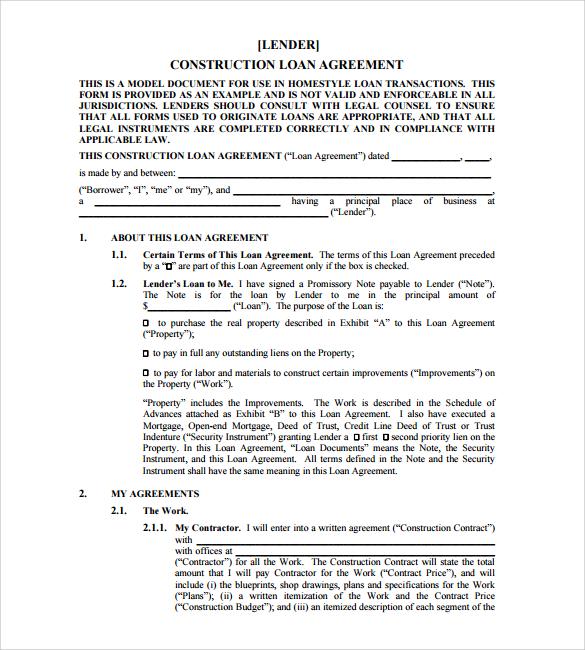 Sample Loan Agreement - 10+ Free Documents Download in PDF, Word - loan agreement