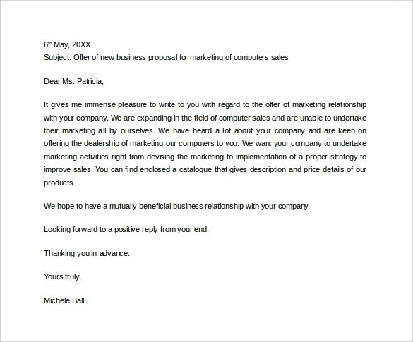 31+ Sample Business Proposal Letters \u2013 PDF, DOC Sample Templates - proposal letter examples