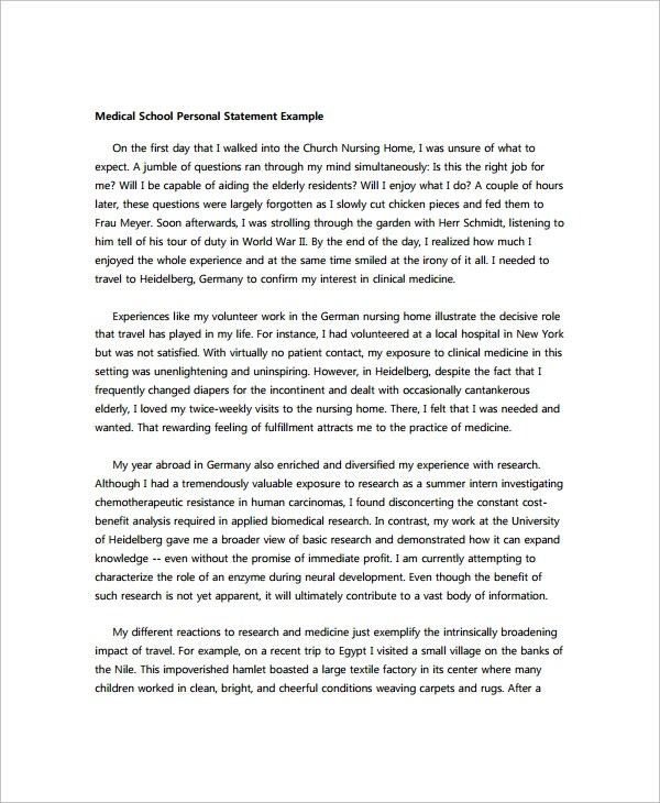 Personal Statement Sample - 5+ Documents in PDF, Word - personal statements