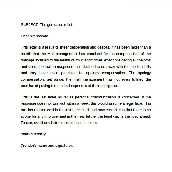 official business letter
