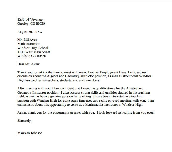 Thank You Letter To Kindergarten Teacher From Parent