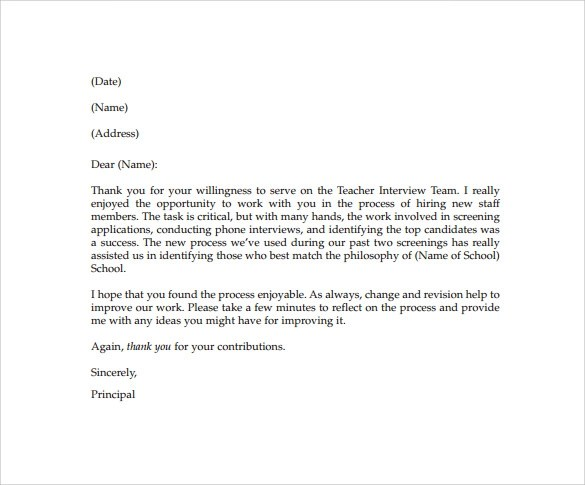 16+ Sample Thank You Letters to Teacher - PDF, Doc, Apple Pages