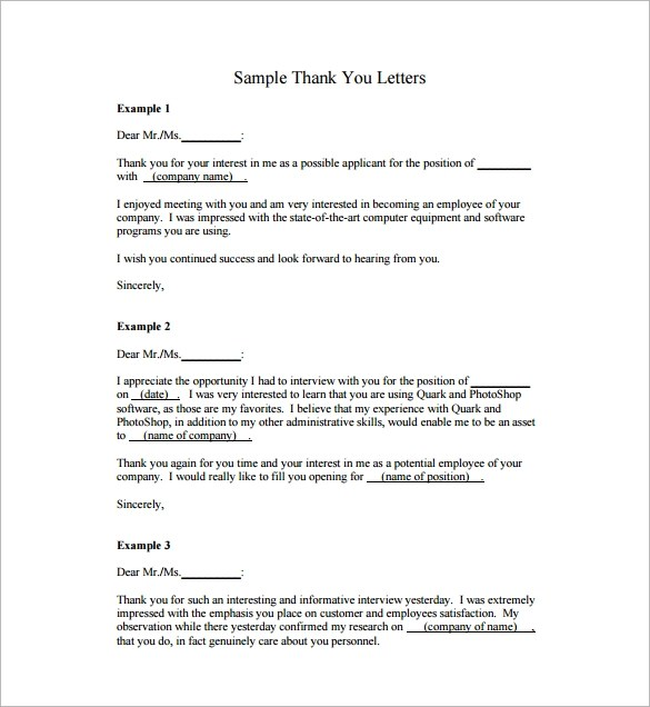 27+ Sample Thank You Letters for Appreciation - PDF, Word
