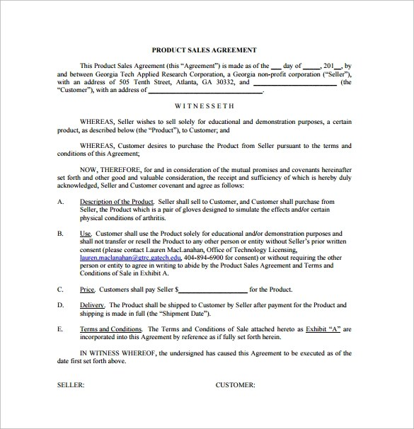 15+ Sample Downloadable Sales Agreement Templates Sample Templates - free sales contract template
