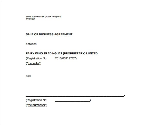 Sales Agreement - 12+ Download Free Documents in Word, PDF - sample business agreements