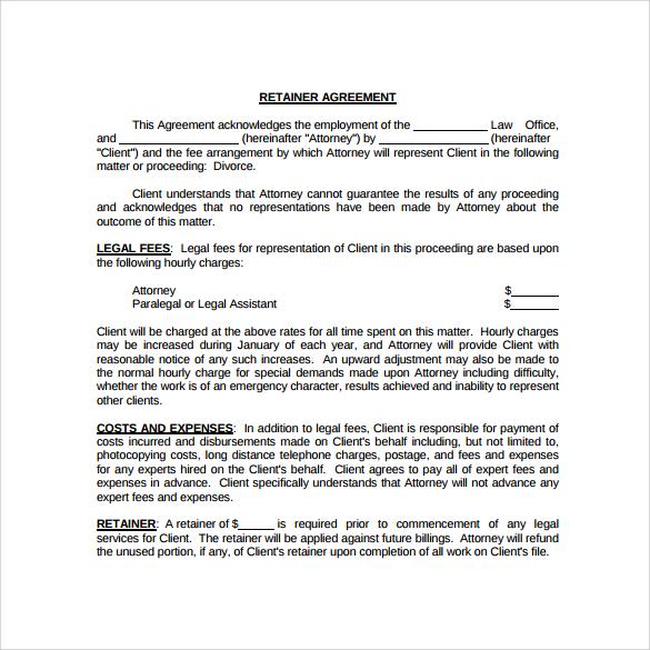 retainer agreement - Boatjeremyeaton - sample retainer agreements