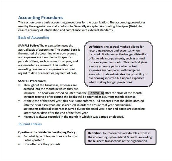 Template Accounting Policy Manual