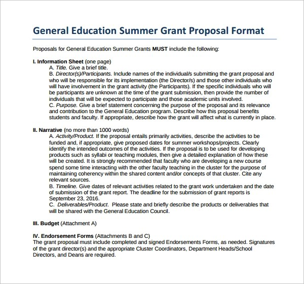 Professional Help With Writing Research Proposal Grant Proposal Template 9 Download Free Documents In