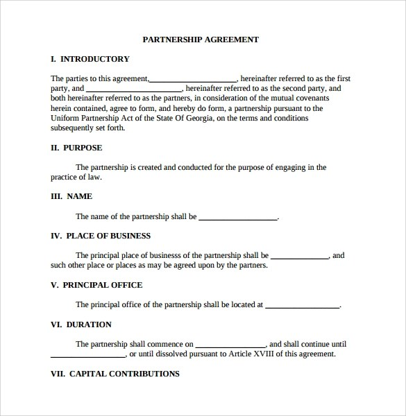 Limited Partnership Agreement Template Forms for members New