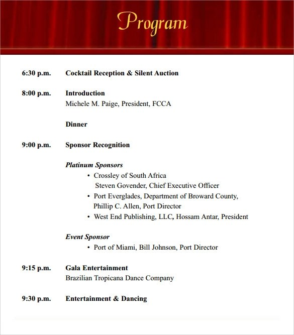 Sample Event Program Template - 38+ Free Documents in PDF - sample program templates