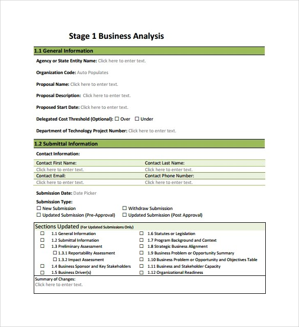 11+ Business Analysis Samples Sample Templates